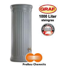 Graf Säulentank 1000 Liter steingrau, inkl. Lieferung, Regenwasser, Garten, NEU