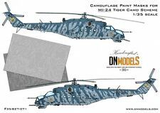 Camouflage Paint Masks Mil Mi-24 Hind Tiger Camo 1/35 Trumpeter by DN Models