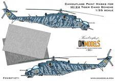 Camouflage Paint Masks Mil Mi-24 Hind Tiger Camo 1/35 Trumpeter Mi-24V DN Models