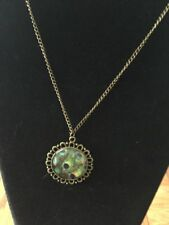 """BEAUTIFUL """"CHIC"""" PEACOCK PENDANT NECKLACE"""