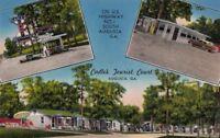 Postcard Cadle's Tourist Court Augusta GA