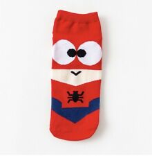 Superhero Cartoon Spider Man Ankle Socks Size 35-42 (UK Seller, Fast&Free Post)