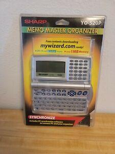 Sharp YO-520P Electronic Memo Master Organizer 1MB Wizard Vtg Computer