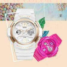 SMAEL Womens LED Digital Analog Sports Waterproof Chrono Quartz Wrist Watch Girl