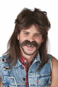 The Lone Wolf Mullet Hillbilly Funny Adult Wig