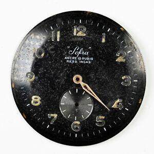 SOFRA Quadrante per Orologio Vintage 34 mm Watch Black Dial