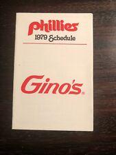 Philadelphia Phillies--1979 Pocket Schedule--Gino's