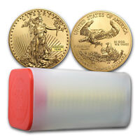 SPECIAL PRICE! BANK WIRE! 1 oz Gold American Eagle BU Random Year Lot of 20