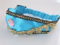Girl Kid Children Blue Jasmine Princess Forehead Tiara Hair Head Band Headband