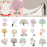 Bike Fingerprints Painting DIY Guest Signature Book Sign-in Canvas Tree+Inkpads