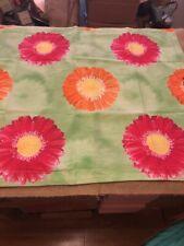 Tommy Hilfiger Green Flower Daisy Pink Orange Pillow Sham Pair