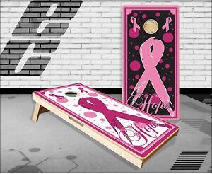 Pink Ribbon Hope Cornhole Boards Bean Bag Toss Game