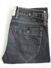 Levis 504 Jeans Hombres Regular Pierna Recta W36 L32 Azul Oscuro Strauss levp 517