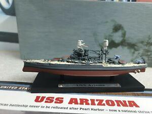 ATLAS EDTIONS - USS ARIZONA - 1/1250 SCALE MODEL - BATTLE SHIP COLLECTION