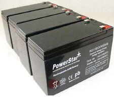 PowerStar 4 Pack - 12V 7AH Battery for APC RBC8 RBC23 RBC24 RBC25 RBC3 UPS