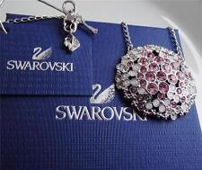ORIGINALE Collana di cristallo Swarovski Multicolore Rotonde Ciondolo Nuova con etichetta scatola regalo sacchetto