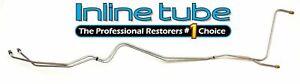 1968-72 Buick GS Skylark T350 T400 Transmission Trans Cooler Lines Tubes Kit OE