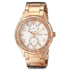 NEW GUESS WATCH Women * Rose Gold Tone * Day/Date Sub-Dials * U0442L3 / W0442L3