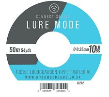 Wychwood Lure Mode Fluorocarbon Tippet 50m Spools Fly Fishing Leader 6/8/10lb