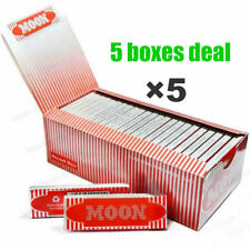 """5 boxes Moon Red 1.0"""" 70*36mm Cigarette Tobacco Rolling Papers Wood Papers"""