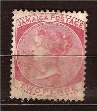 JAMAÏQUE 1860-63  Queen Victoria  N°2 -2a rose 2 pence sans gomme  82m272T2