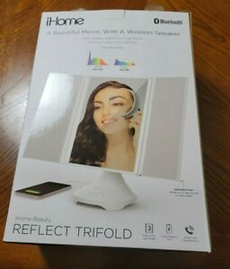 Ends 3/1 11AM PST iHome (iCVBT4) Reflect Trifold Vanity Speaker with Bluetooth