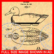 50s VINTAGE Hunting DUCK DECOY Patent - Herter #582