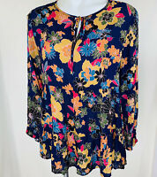 Rachel Zoe Blouse Blue Multi Floral. Size Medium. New With Tags