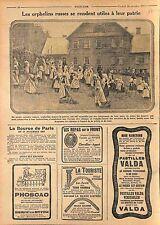 Orphans of War Russia Isba Orphelins Russie/Pub Pastilles Valda Phoscao WWI 1915