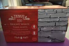 Tesco 100 Bright White Timer Lights New