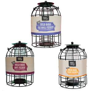BIRD FEEDERS - GREEN - CAGED SQUIRREL GUARD TYPE - CHOICES - BUNDLE DEALS