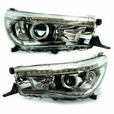 Genuine Lh Rh Led Head Light Lamp Projector Fits Toyota Hilux Revo M70 M80 2016