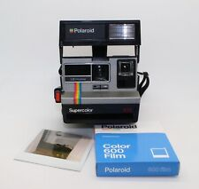 Polaroid Supercolor 635 Instant Camera with pack of new 600 Film and box - VGC