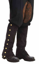 Steampunk Black Boot Spats Colonial Boot Covers Victorian Costume Accessory