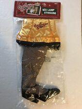 "Nip ""A Christmas Story"" Leg Lamp Stocking Neca Wb 9.25x18"" Fishnet Gold Satin"