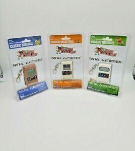 Mattel Electronics Classic Electronic Handheld Keychain, Lot 3 different Sports