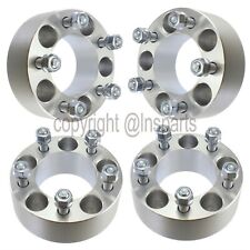 """(4) 50mm (2"""") 5x4.5 Wheel Spacers   12x1.5 Studs  5x114.3 Adapters   Forged"""