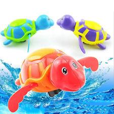 Bebé Juguete infantil Nadar Tortuga Cuerda Mecánica Niños Playa Baño Jugue*QA
