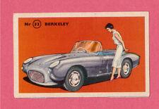 Berkeley Vintage 1950s Car Collector Card from Sweden
