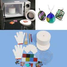 15 pcs Large Microwave Kiln Kit Glass Fusing Diy Craft Jewellery Art Tool Set