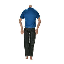 "Great Handmade Black Pants Blue T-Shirt for 11"" Barbies Ken Dolls Ep"
