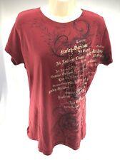Harley Davidson Bruce Rossmeyer Women's T-shirt Daytona Beach Wine Color