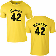 Beavers 42 Basketball T-Shirt - Fancy Dress Costume Howard Teen Wolf Mens Top