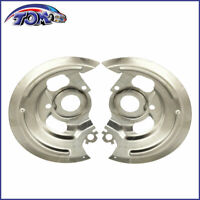 For 1964-1972 Chevy GM A Body Backing Dust Shields Plates  Disc Brake Pair