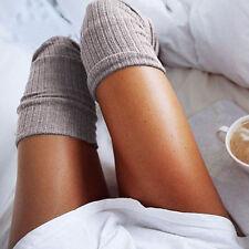 Damen Überknie Overknee Lang Socken Strümpfe Kniestrümpfe Stockings Neu