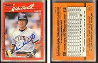 Mike Heath Signed 1990 Donruss #209 Card Detroit Tigers Auto Autograph