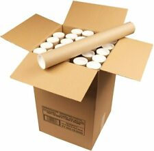 POSTAL QUALITY STRONG CARDBOARD TUBES + END CAPS 76.5MM A4/A3/A2/A1/A0 POSTAGE