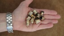 10 Micro Gold Bells-So Little & Cute! With Tiny Tinkling Sound-Crafts, Wreaths
