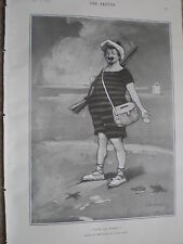 Vive Le Sport by Dudley Hardy 1902 cartoon print ref W2