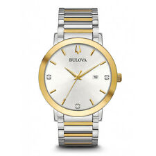 Bulova Men's Futuro Quartz Diamond Accents Two-Tone Band 42mm Watch 98D151